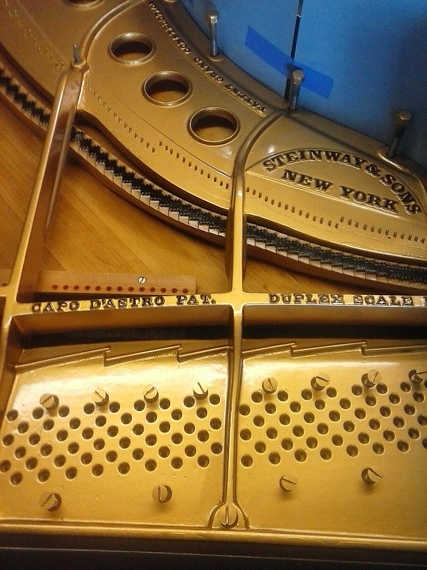Piano Harp Refinishing in Montgomery, AL - after