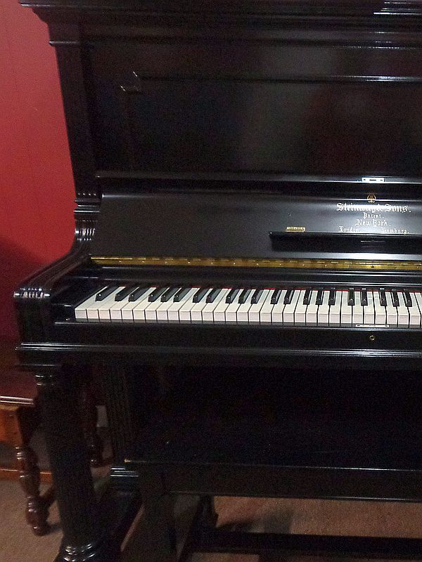 Steinway Upright - refinished in Semi-Gloss Ebony