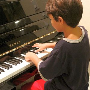 Piano Teacher in Union Springs, Alabama - young boy playing piano